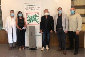 Sanificatori d'aria a raggi Uv-C all'Ospedale di Terni; un contributo della comunita'