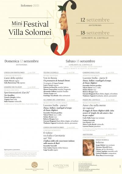 Festival Villa Solomei: Edizione ancora mini – prenotazione obbligatoria e grean-pass/tampone