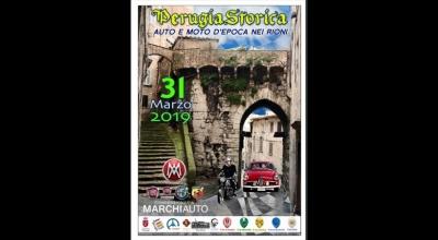 Perugia Storica. Auto e Moto d'epoca nei rioni: appuntamento Domenica 31 Marzo 2019, dalle ore 9.00