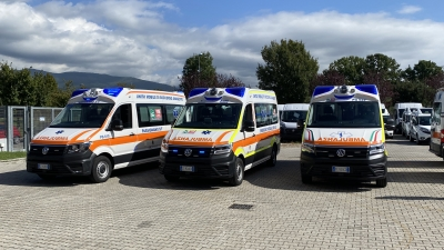 Sanita': 3 nuove ambulanze 4x4 consegnate a Gubbio-Gualdo Tadino, Assisi e Passignano