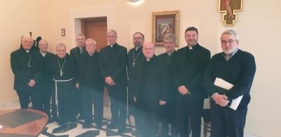 Riunione CEU con mons.Boccardo e Cardinal Bassetti; benvenuto a vescovo asiliare di Perugia Mons. Salvi