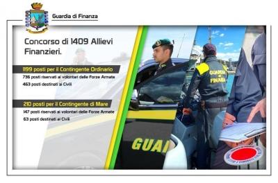 Gdf Perugia: pubblicato il bando di concorso, per il reclutamento di 1.409 allievi finanzieri 2021