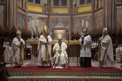 Ordinazione Episcopale Fra' Gambetti nella Basilica Superiore di San Francesco d'Assisi
