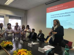 Sanita'/Umbria: inaugurato blocco parto Ospedale citta' di Castello; spesi 743 mila euro