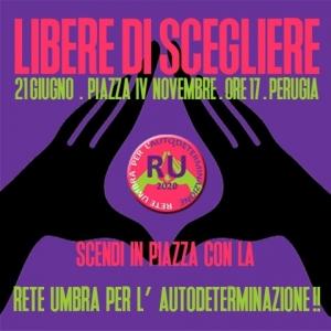 """Manifestazione a Perugia domenica de """"La Rete""""; in piazza con mascherine  e distanza"""