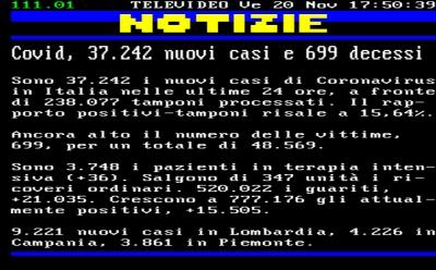 Coronavirus/Italia: 1.066 casi in  piu' di contagio; deceduti in 699