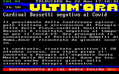Covid-19: Cardinal. Bassetti risultato negativo