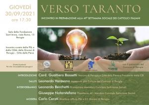Perugia verso Taranto (21-24 ottobre): in preparazione 49/ma settimana sociale