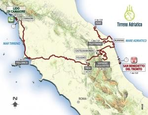 Corsa dei due Mari nelle Marche: la Tirreno Adriatico. Sabato  Sarnano-Sassotetto