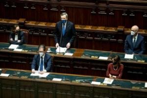 Governo Draghi ottiene la fiducia alla camera: 535 i SI